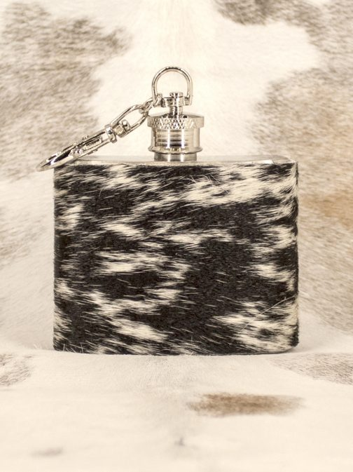 2oz Keychain Cowhide Wrapped Flask Blank