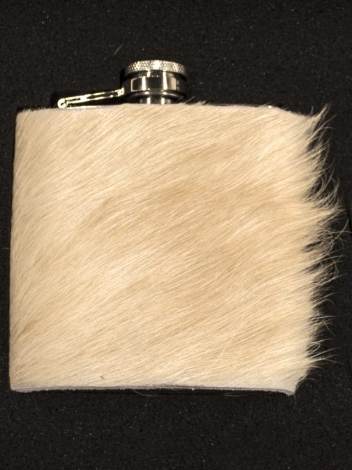 Cowhide Wrapped Flask Blank