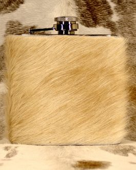Cowhide Wrapped Flask 6oz