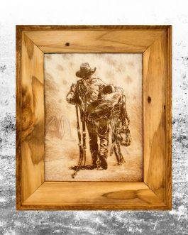 Vintage Cowboy & Saddle
