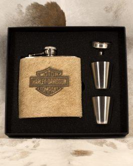 Harley Davidson 6oz Cowhide Wrapped Flask