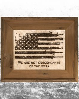 We Are Not Descendants of the Weak