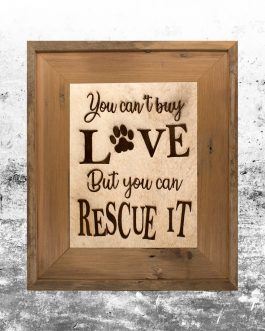 You can Rescue Love