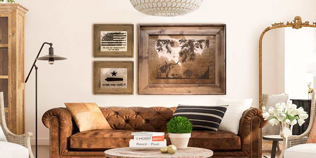 Branded Cowhide Art