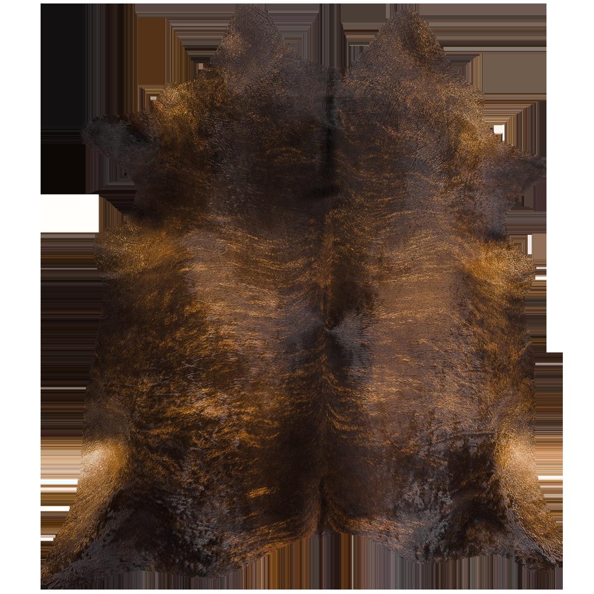 Dark Brindle Cowhide Full Sized hide