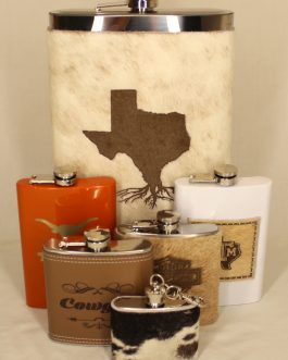 Texas Roots 64oz Jumbo Cowhide Wrapped Flask